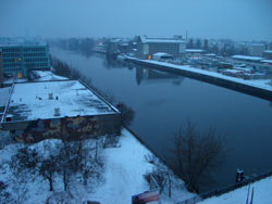 the river Spree, early in the morning