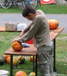 pumpkin cutting